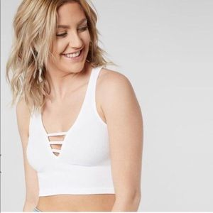 Free People Strapped In Brami in White
